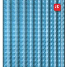 A8752 3D (Peva/Полиэтилен 180cm*200cm голубой)