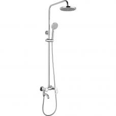A2422 (душ/система/смес. хром. излив/поворот. лейка/верх/душ, латунь)