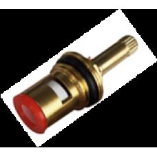 Кран-букса металлокерамическая 1/2'' дюйма 20 шлицов на 180º (с резьбой)