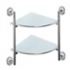 Полка стеклянная (20cm*20cm)угловая 2-ярусная